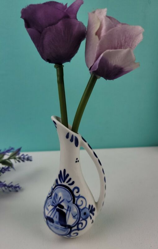 Delft Blue Mini Pitcher Bud Vase