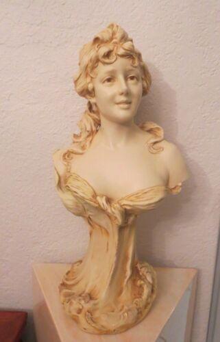 Antique Royal Dux art nouveau figurine Bust of Woman