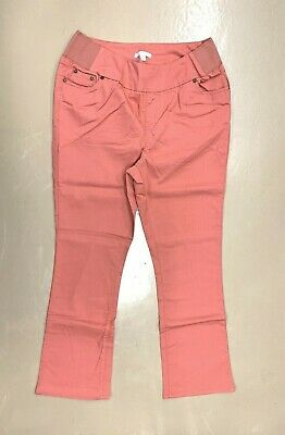 New! WOMAN WITHIN plus size 14W coral twill 5-pocket style pull-on boot jeans 5 Pocket Style Jeans
