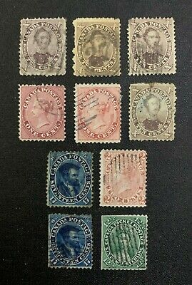 Canada Stamps Used with Damage