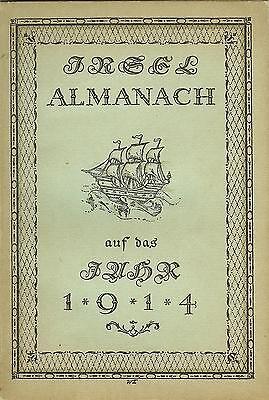Insel-Almanach auf das Jahr 1914 - Insel Verlag mit Insel-Büchereiverzeichnis