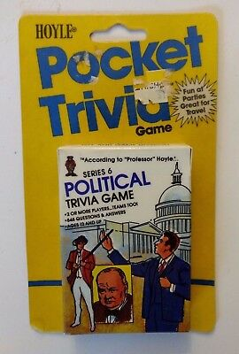HOYLE POCKET TRIVIA GAME SERIES 6 POLITICAL TRIVIA GAME 1984 FACTORY SEALED