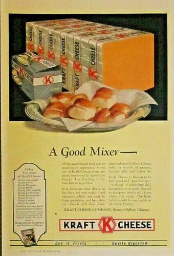 KRAFT CHEESE, Chicago, IL. Vintage 1927 Antique Ad