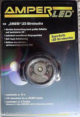 LED Stirnlampe DAKOTA, batteriebetrieben Blau/Schwarz-NEU
