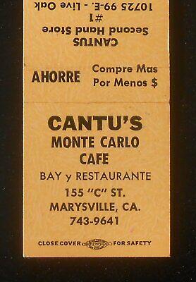 1970s Sexy Girl Cantu's Monte Carlo Cafe Store Live Oak Yuba City Marysville (Yuba City Stores)