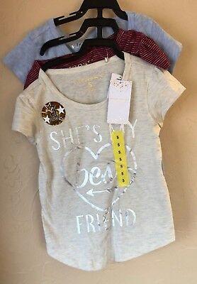 VIGOSS Kids For Girls 3-pack Best Friends Tee Shirt