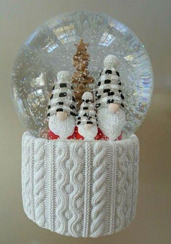 Sincerely Santa Three Knomes & Christmas Tree LED Light Up Snowglobe