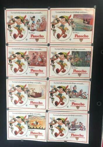 Original 1984 Vintage 8 Walt Disney Pinocho W/envelope MEXICAN LOBBY CARDS -A109