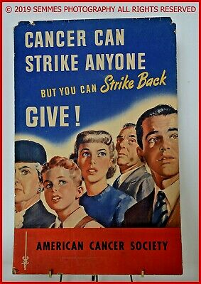 AMERICAN CANCER SOCIETY VINTAGE POSTER LISTED ARTIST Only one I have. Free Ship
