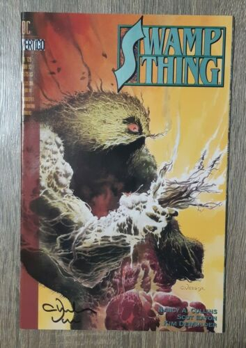SWAMP THING #129 SIGNED CHARLES VESS  #1182 JUSTICE LEAUGE DARK