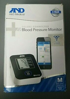A&D Medical Upper Arm Blood Pressure Monitor with Bluetooth and Medium