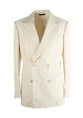 New TOM FORD Shelton Double Breasted Off White Sport Coat Size 46 / 36R U.S. ...