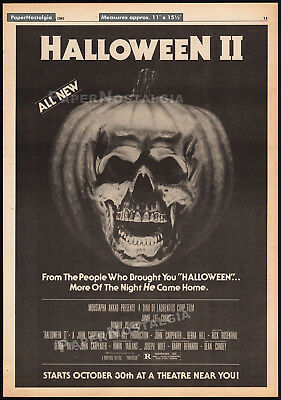 HALLOWEEN II__Original 1981 Trade AD / poster__