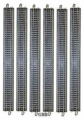 """6 Pieces N Scale 10"""" Nickel Silver Straight  E-Z Track Bachmann New 44815"""