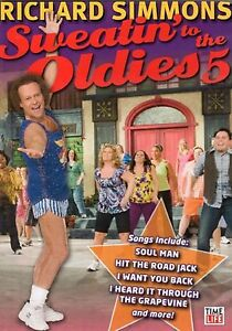 Richard Simmons SWEATIN' TO THE OLDIES 5 (DVD) workout tonin exercise SEALED NEW