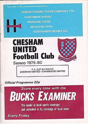 CHESHAM UTD V CAMBRIDGE UTD FA CUP 5/1/80