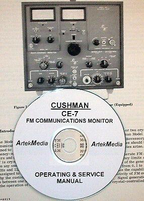 Cushman Ce-7 Fm Communications Monitor Operating Service Manual