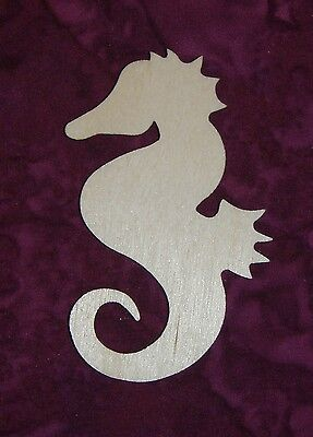 """Seahorse Cut Out Unfinished Wood Seahorses Wooden Craft Shape 12"""" Inch Tall"""