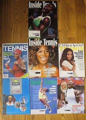SERENA WILLIAMS- Tennis,  Inside Tennis Magazines LOT 7-2007-2016--good used