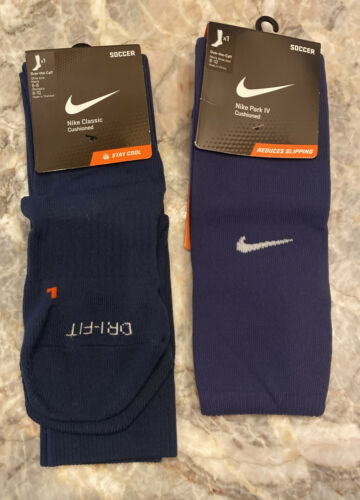 soccer socks blue classic cushioned 3x pair
