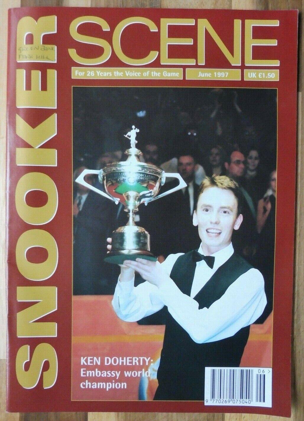 Snooker Scene Magazine, June 1997, Good Condition.