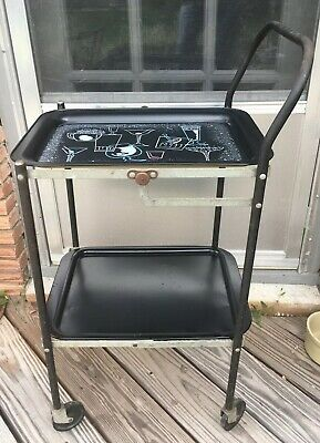 Vintage 1950's Kitchen Serving Cart - Fold up
