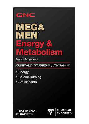 GNC MEGA MEN Energy & Metabolism 90 Caplets Multivitamin