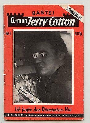 G-man Jerry Cotton 1. Auflage Nummer 1 Bastei Kriminalroman der langen Serie