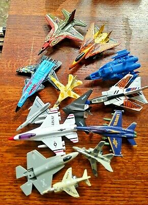 Lot Diecast Airplanes Fighter Jet Aircraft Military Planes