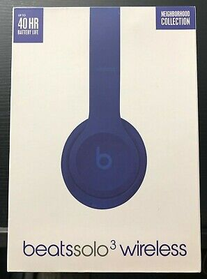 Beats by Dr. Dre Solo3 Wireless Blue Neighborhood Collection On Ear Headphones
