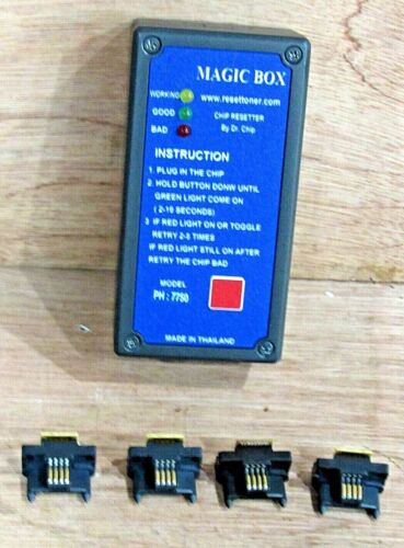 Magic Box #7750 Toner Chip Resetter  With Chips By Chip DR. Working Condition