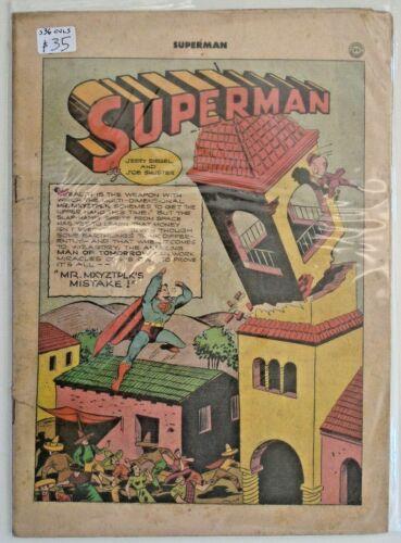 *Superman v1 #36 Coverless