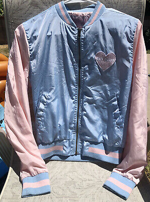 Melanie Martinez Cry Baby Girls Womens Small Concert Jacket Pink Blue Bomber