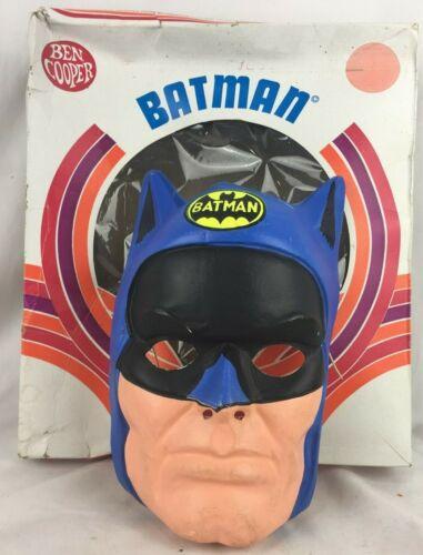 Vintage 1970 BATMAN Mask w/ Box Size Large - Ben Cooper Superhero Halloween