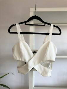 BNWOT white wrap crop top Sydney City Inner Sydney Preview