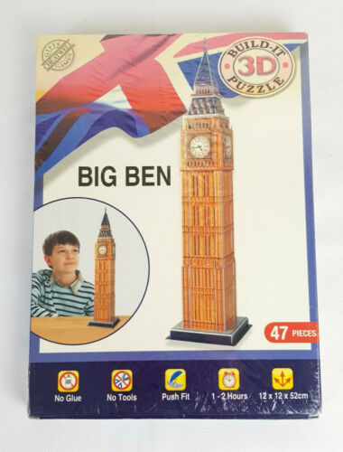 Big Ben Build It 3D Puzzle Cheatwell Games New Sealed
