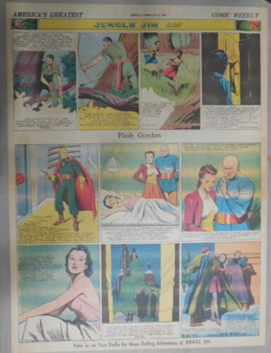 Flash Gordon Sunday by Alex Raymond from 2/2/1941 Large Full Page Size !