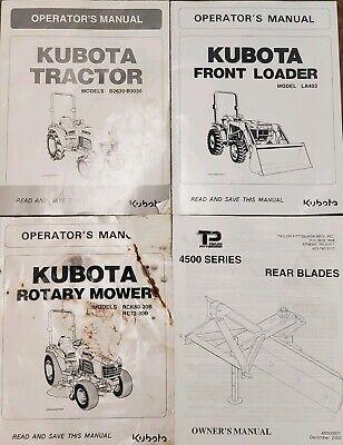 Lot 4 Kubota Tractors Agriculture Operators Manuals Farming Spiral-bound