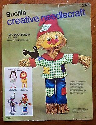 Bucilla 2375 Creative Needlecraft KIT Scarecrow Wizard of Oz Halloween - Halloween Needlework Kits