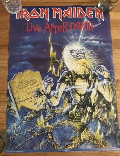 "1985 Iron Maiden Life After Death Poster By Derek Riggs 20"" X 28"""