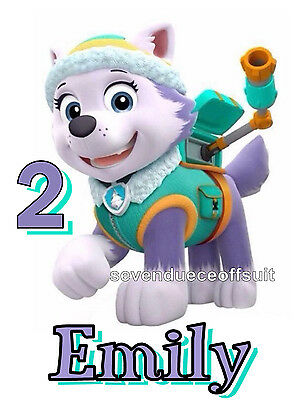 NEW PERSONALIZED PAW PATROL EVEREST HUSKY PUP T SHIRT BIRTHDAY ADD NAME, AGE](Paw Patrol Puppy Names)