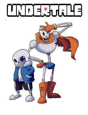 Undertale Sans And Papyrus T Shirt Skeleton Brother Computer Video Game New