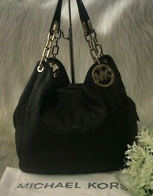 Gorgeous * Michael Kors *Fulton * Large Leather Chain Tote Bag RRP £330. Black