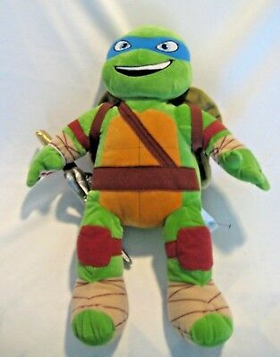 Build a Bear Teenage Mutant Ninja Turtles Leonardo with Shell & Sai Soft & Clean for sale  Shipping to India