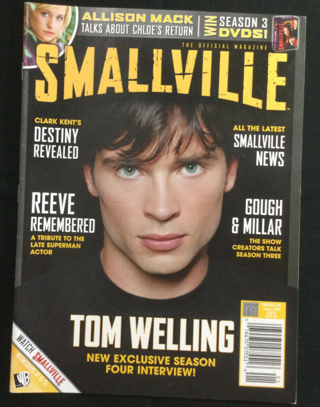 Smallville Magazine # 4 Jan 2005 Tom Welling, Allison Mack, Christopher Reeve