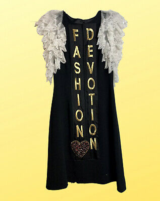 Dolce & Gabbana 'fashion devotion' short dress In Black Size 4 NWT $3975