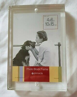 Magnetic Acrylic Photo Picture Frame Desk Sign Holder Transparent Double Sided Double Picture Frame Magnet