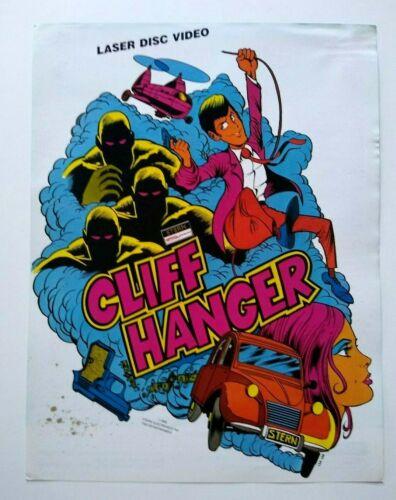 Cliff Hanger Arcade FLYER Original Stern Video Game Artwork Sheet Laser Disc