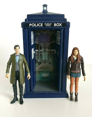 Doctor Who Tardis With Light And Sound Plus The 11th Doctor & Amy Pond Figures