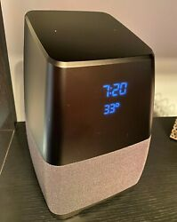 Insignia Smart Bluetooth Speaker Google Home Assistant Alarm Clock NS-CSPGASP